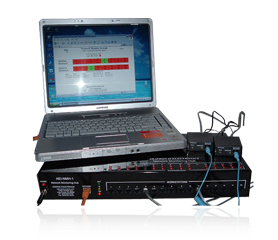 Network Monitoring Hub Demo setup with Laptop Computer